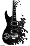Crow Guitar Prints