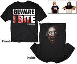 The Walking Dead- Beware I Bite (Reversable) T-Shirt