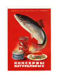 Salmon, Sturgeon - Natural Canned Products Art