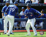 Jose Bautista & Josh Donaldson 2015 Action Photo