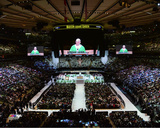 Pope Francis reads his homily while celebrating high Mass at Madison Square Garden, Friday, Septemb Photo
