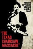 Texas Chainsaw Massacre- Leatherface Silhouette Plakát