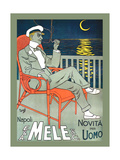 Lounging in Mele Fashion and under a Crescent Moon Prints by Franz Laskoff