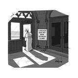 The Pope visits New York City. - Cartoon Premium Giclee Print by Kaamran Hafeez