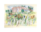 Ascot Premium Giclee Print by Raoul Dufy