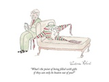 """What's the point of being filled with gifts if they can only be beaten ou..."" - New Yorker Cartoon Premium Giclee Print by Victoria Roberts"