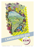 South America - Rio De Janeiro, Brazil - KLM Royal Dutch Airlines Print