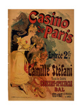 Casino De Paris; Camille Stefani Prints by Jules Chéret