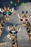Giraffe Selfie Posters
