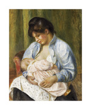 A Woman Nursing a Child Premium Giclee Print by Pierre Auguste Renoir