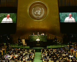 Pope Francis addresses the 70th session of the United Nations General Assembly, Friday, September 2 Photo