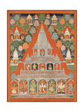 Shaiva Shrines in a Landscape Poster