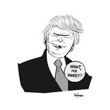 What, me Worry? - Cartoon Premium Giclee Print by Kaamran Hafeez