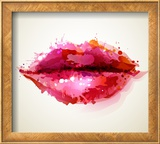 Beautiful Woman's Lips Formed By Abstract Blots Posters by  artant