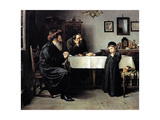 Rabbi's Visit Prints by Isidor Kaufmann