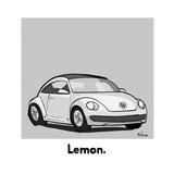 Lemon - Cartoon Premium Giclee Print by Kaamran Hafeez