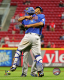 Jeurys Familia & Travis d'Amaud celebrate the Mets winning the 2015 National League East Division Photo