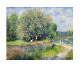 Chestnut Trees in Bloom Premium Giclee Print by Pierre Auguste Renoir