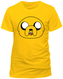Adventure Time- Jake Face (Slim Fit) T-Shirt