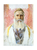 Rabbi in White Frock Print by Isidor Kaufmann
