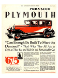 1928 Chrysler Plymouth Sedan Posters