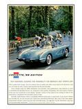 1959 GM Corvette New Sleekness Affiche
