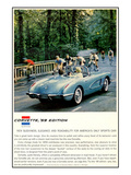1959 GM Corvette New Sleekness Stampa