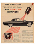 1955 Thunderbird-Turbo Action Posters