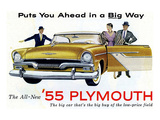 1955 Plymouth - in a Big Way Prints
