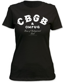 Juniors: CBGB- White Logo T-shirts