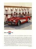 1959 GM Corvette Sports Car Affiches
