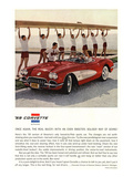 1959 GM Corvette Sports Car Affischer