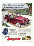 1950 Willys Smart New Jeepster Poster