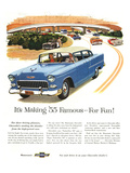 1955 GM Chevy Famous for Fun Affiches