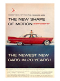 1957 Plymouth Flight-Sweep Affiche