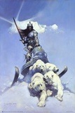 Silver Warrior Poster by Frank Frazetta