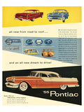 1955 GM Pontiac - Road to Roof Poster