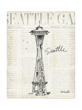 City Sketches VI Seattle Prints by Anne Tavoletti