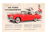 1956 Thunderbird - Exciting Affiches