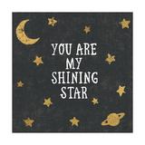 Shining Star Black Art by Moira Hershey