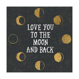 To the Moon Black Print by Moira Hershey