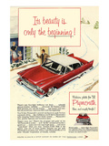 1958 Plymouth - the Beginning Print