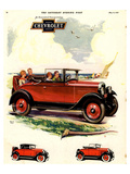1928 GM Chevrolet Economical Poster