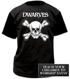 Dwarves- Skull & Bones (Front/Back) T-Shirt