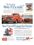 1951 Ford Trucks Last Longer Print