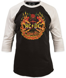 AC/DC- Flames (Raglan) Vêtements