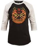 AC/DC- Flames (Raglan) - T-shirt