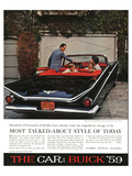 1959 GM Buick - Style of Today Affiches