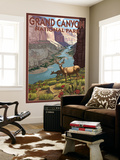 Grand Canyon National Park, Arizona, Deer Scene Wall Mural by  Lantern Press