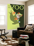 Visit the Zoo, Tree Frog Scene Wall Mural by  Lantern Press